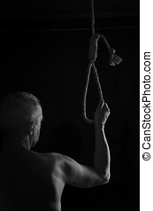 Suicide. - The man who decided to hang himself.