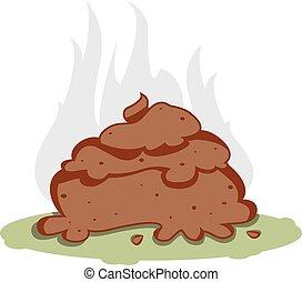 Funny Poo - a vector cartoon representing a funny poo, brown...