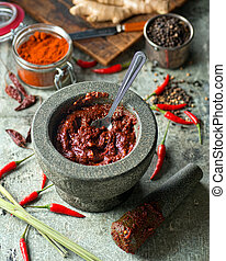 Thai Red Curry Paste - A delicious Thai red curry paste with...