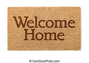 Welcome Home Mat On White - Welcome Home Mat Isolated On A...