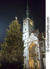 Christmas Tree and Town Hall - The Christmas tree by the...