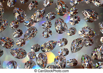background with many glittering stones like diamonds -...