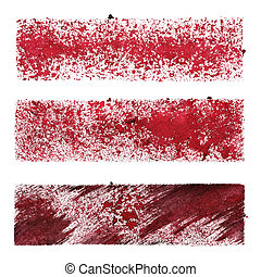 Set of red stencil stripes - space for your own text -...