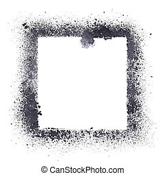 Black stencil frame - Stencil frame isolated on the white...