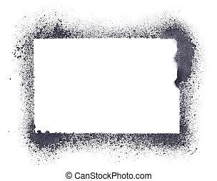 Grunge stencil frame - Blank grunge stencil frame - raster...