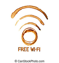 Wi-Fi icon by coffee stains