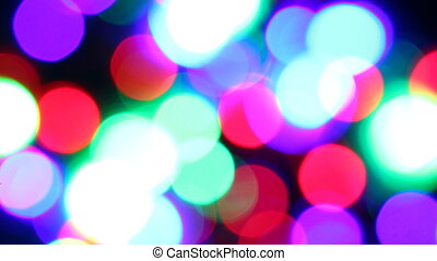 Blurred fairy lights background