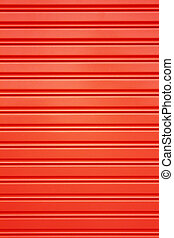 red metal security roller door background