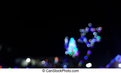 Christmas party - Seamlessly looping animation of defocused...