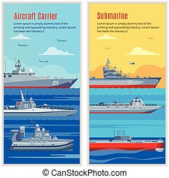 Military Ships Vertical Banners - Military ships vertical...