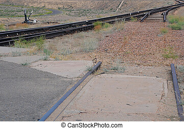 Railway Switch and Broken Track - Railway switch, broken...