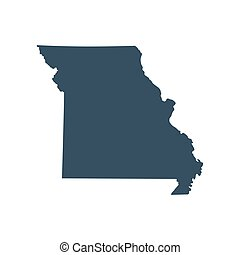 map of the U.S. state Missouri vector illustration - map of...