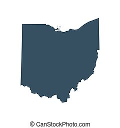 map of the U.S. state  Ohio - map of the U.S. state of Ohio