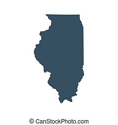 map of the U.S. state Illinois - map of the U.S. state of...