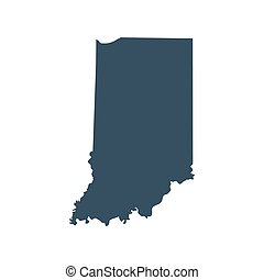 map of the U.S. state Indiana - map of the U.S. state of...
