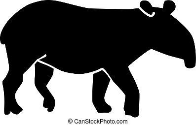 Tapir silhouette