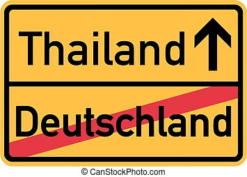 Emigration from Germany to Thailand - german sign