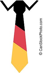 Tie and Shirt with german flag colors