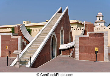 Jantar Mantar Observatory - Astronomical instrument at...