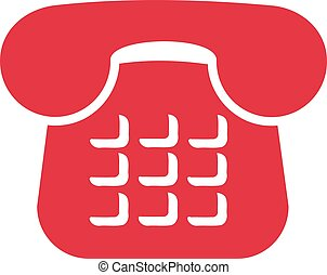 Red telephone icon