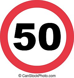 50th Birthday - traffic sign