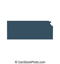map of the U.S. state Kansas - map of the U.S. state of...