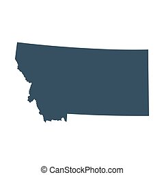 map of the U.S. state Montana - map of the U.S. state of...