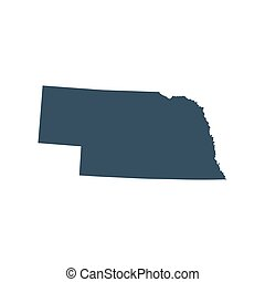 map of the U.S. state Nebraska - map of the U.S. state of...