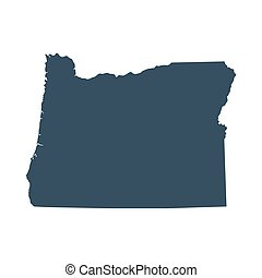 map of the U.S. state Oregon - map of the U.S. state of...