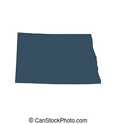 map of the U.S. state North Dakota - map of the U.S. state...