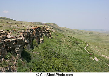 Buffalo Jump - Historical Head-Smashed-In Buffalo Jump,...