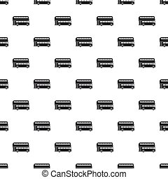 London double decker bus pattern, simple style - London...