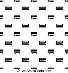 London double decker bus pattern, simple style