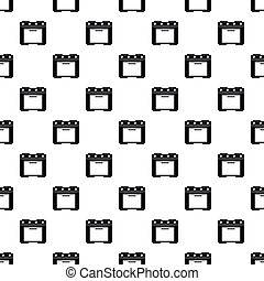 Electric cooker pattern, simple style