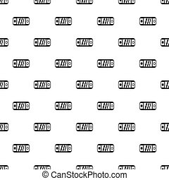 Portable video game console pattern, simple style
