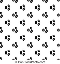 Coffee beans pattern, simple style - Coffee beans pattern....
