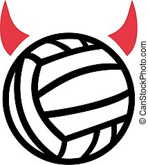 Water polo with devil horns