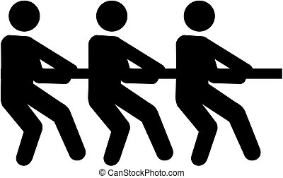 Tug of war pictogram