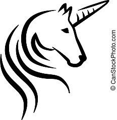 Unicorn head caligraphy