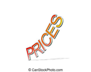 Price going up - letters prices going up
