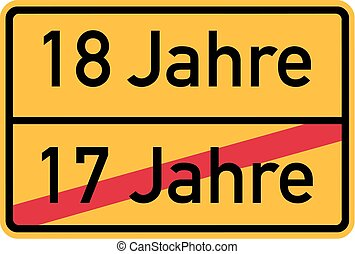 18th birthday - roadsign german