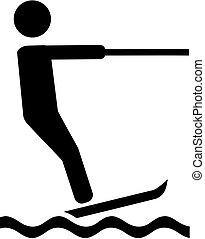 Water skiing pictogram
