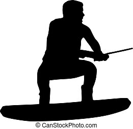 Wakeboarder with speed