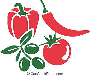 Mediterranean vegetable set