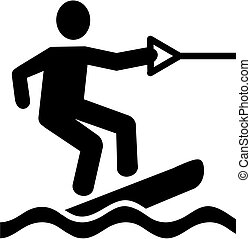 Wakeboarder pictogram