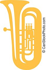 Tuba yellow icon