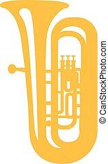 Tuba yellow icon