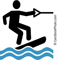 Wakeboarding pictogram