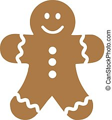 Smiling gingerbread man