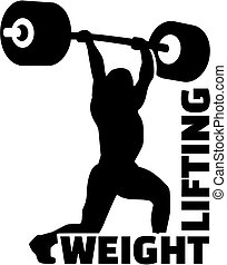 Weight lifting man silhouette